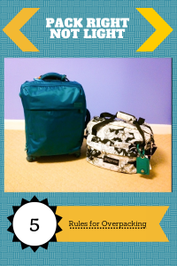 Pack Right Not Light: Rules for Overpacking